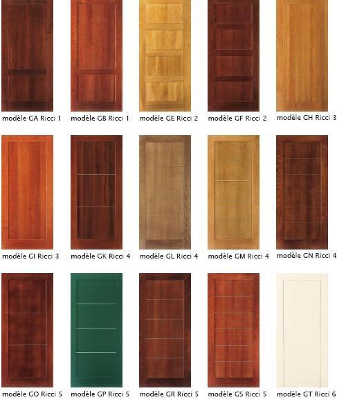 Revêtements portes blindées en bois massif