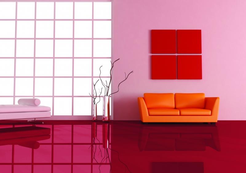 Vente de revêtement de sol GLAMOUR rouge brillant U 148
