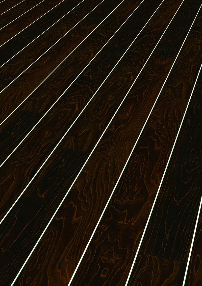 Vente de parquet BLISS ART Couleur érable marron foncé brillant D2920