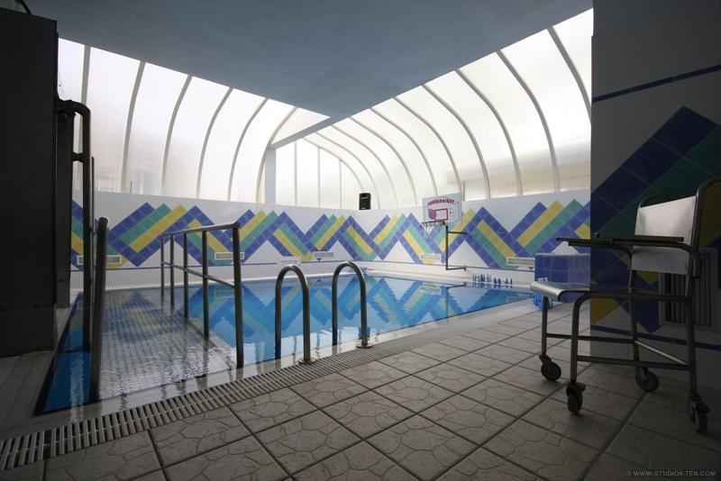 piscine (plate forme de marche et accès des malades)