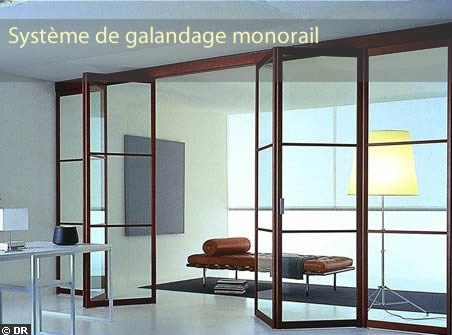 Systéme de galandage monorail