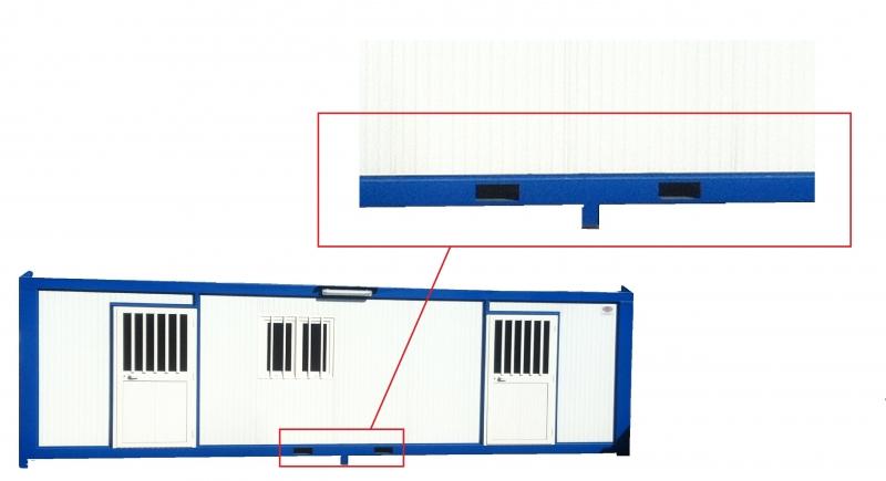 Detail : passage de fourche pour chariot elevateur