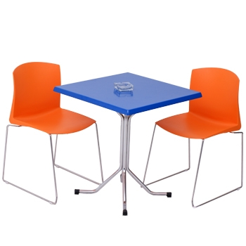 table carre avec 2 chaise pull