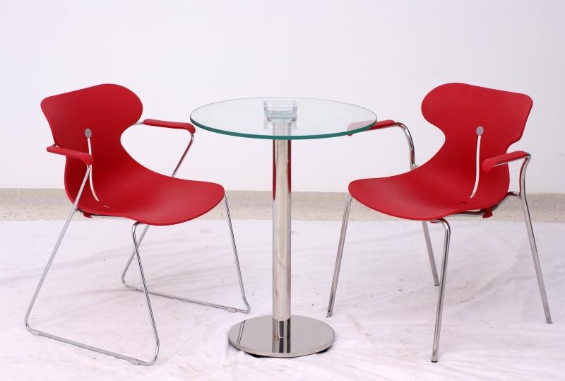 TABLE RONDE INOX DIAM70