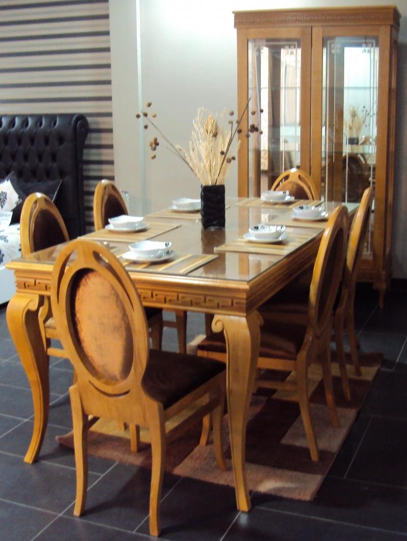 table et 6 chaises slim+argentière