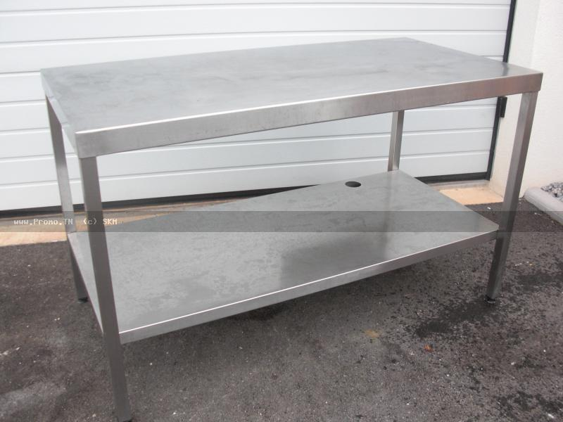 table de travail en inox