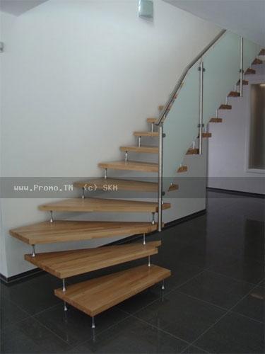 Rampe d'escalier inox
