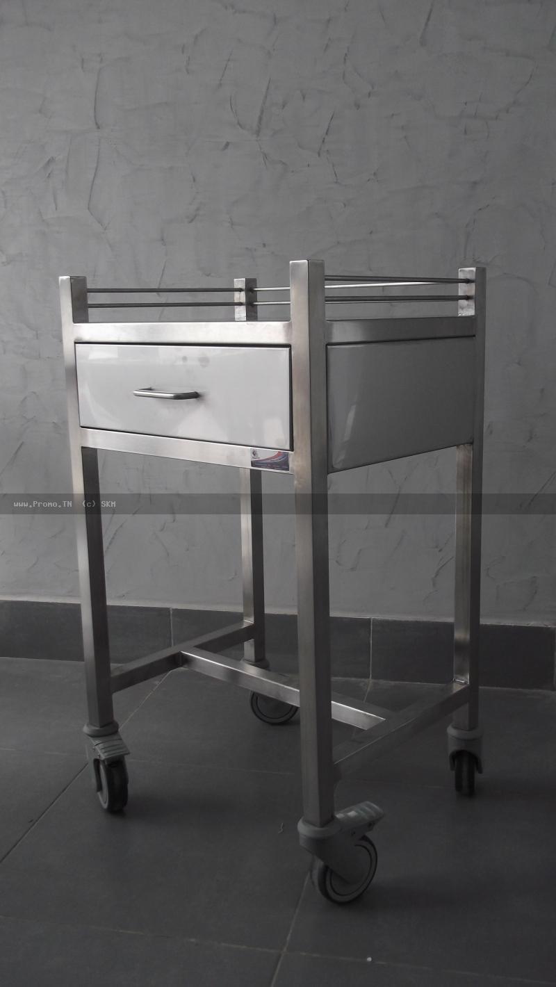 table en inox avec un tiroir