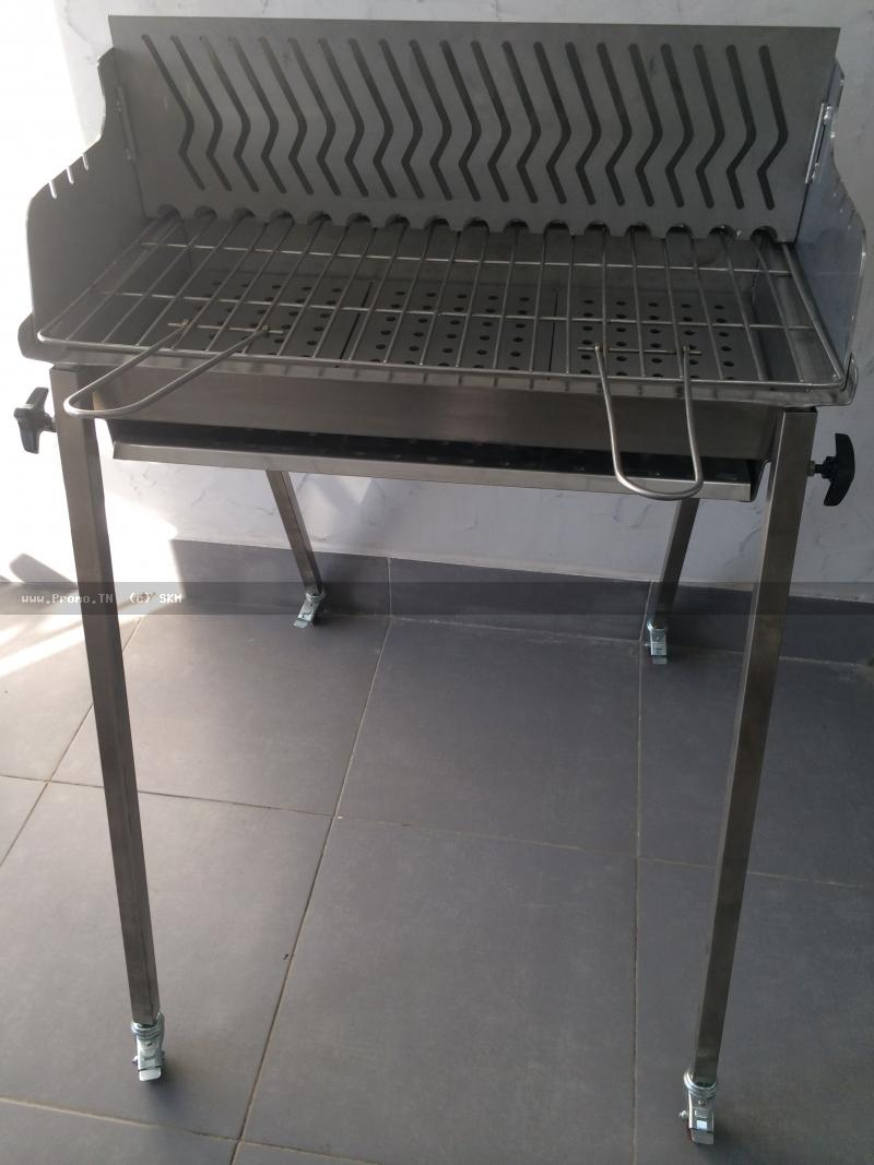 barbecue inox avec support