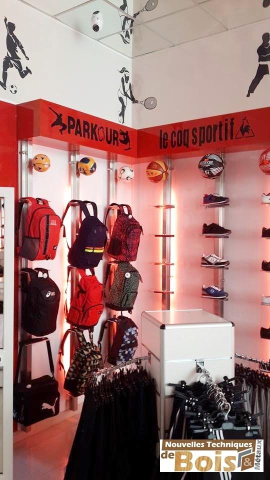 aménagement magasin le sportif 'soukra tunis'