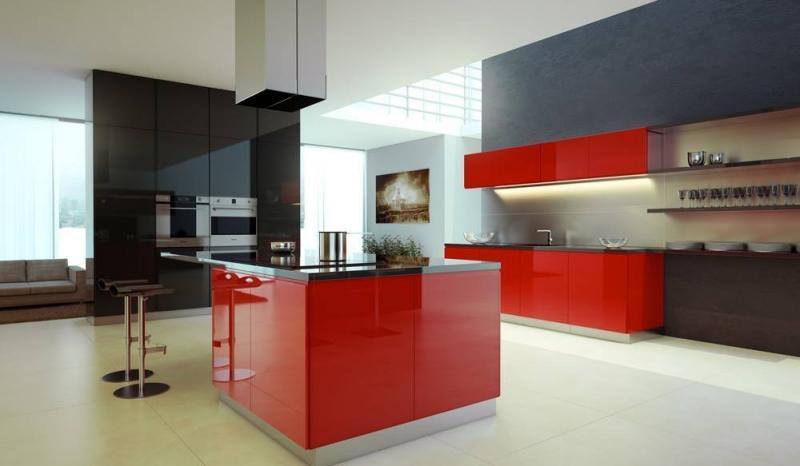 Chambre Rose Bonbon Et Blanc : Cuisine moderne sfax  meubles de cuisines et dressing haute gamme