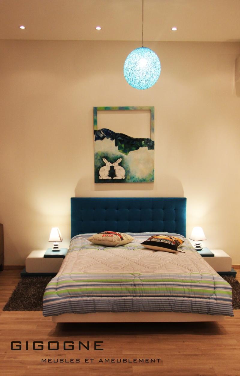 Idee Deco Salon Blanc Gris Rouge : Chambre A Coucher Moderne Sfax Cuisine  meubles et décoration en