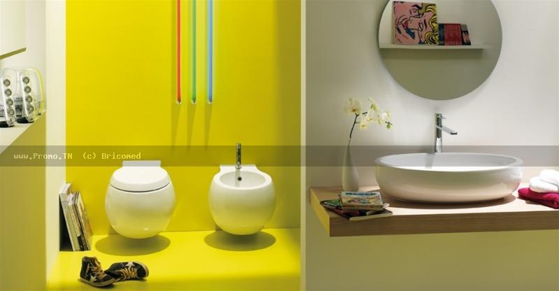 salle de bain planet white by scarabeo. Black Bedroom Furniture Sets. Home Design Ideas