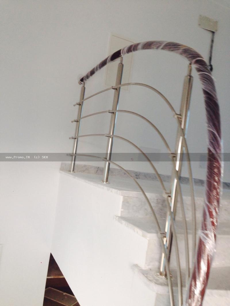 rampe d'éscalier inox