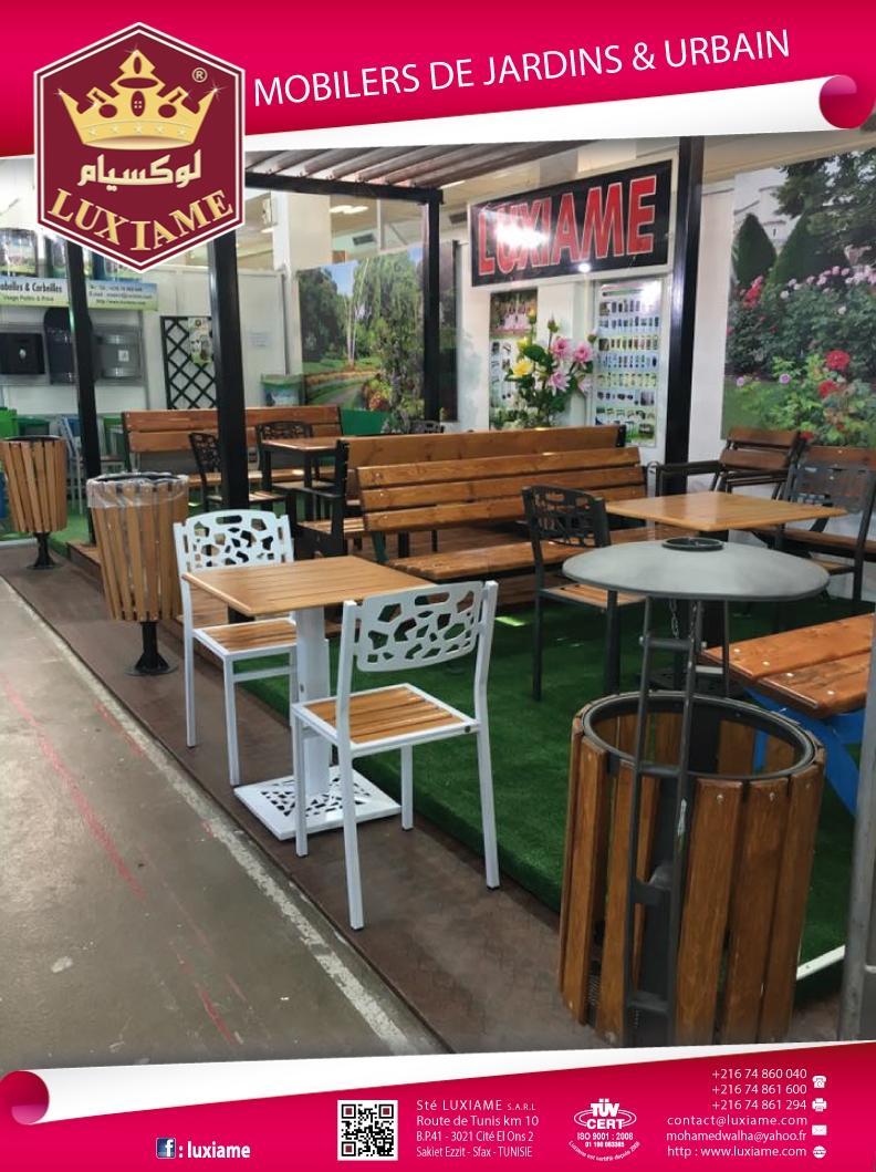 Promo.tn : Chaise de jardin JAAFAR Acier bois