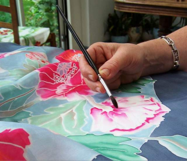 Peinture sur soie for Peinture sur soie facile