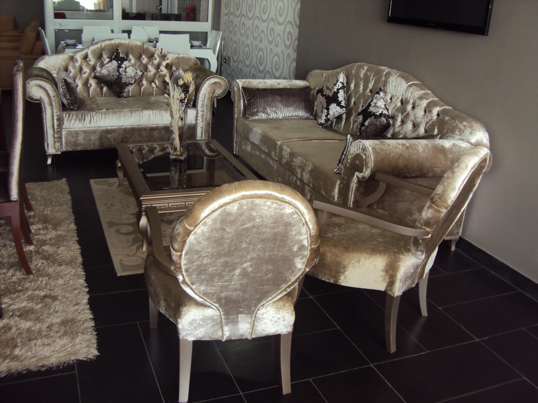 Salon Ambiance Moderne : salon velour de soie capitonnée salon velour de soie capitonnée 7