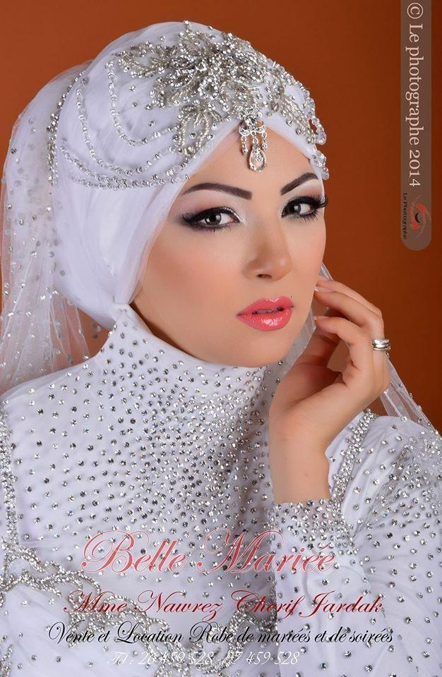 Robe de soiree pour mariage femme voilee