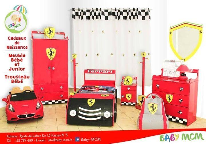 chambre enfant ferrari. Black Bedroom Furniture Sets. Home Design Ideas