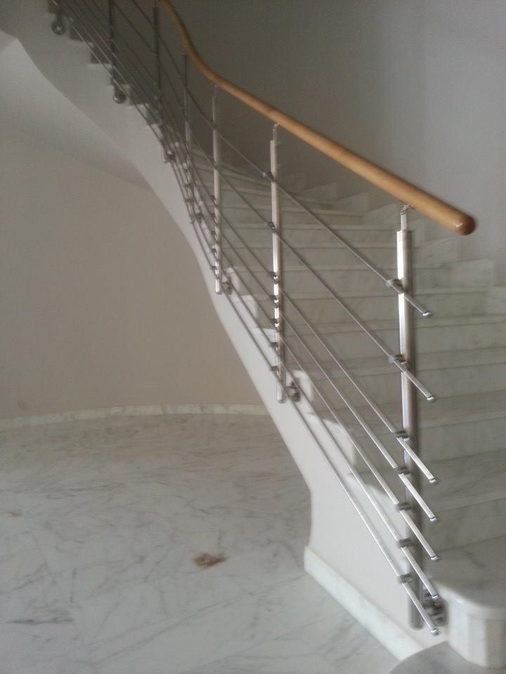 chez kharrat inox rampe escalier sfax. Black Bedroom Furniture Sets. Home Design Ideas