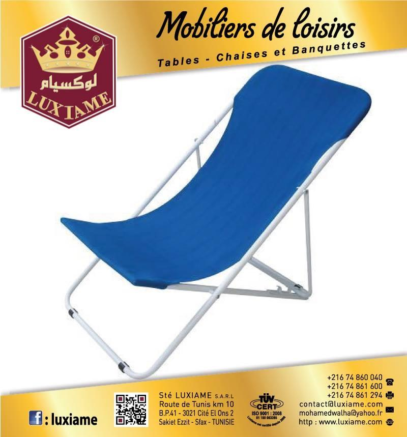 chaise longue pliable tunisie